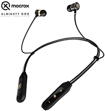 Bluetooth Headphones Neckband, True Surround Stereo Sound Cell Phone Bluetooth Neckband Earphones 12 Hours Playtime Around The Neck Wireless Earbuds Retractable Headset
