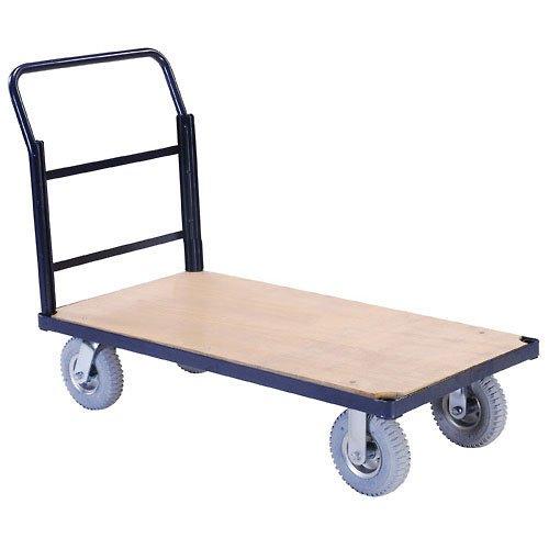 - Steel Bound Platform Truck w/Wood Deck, 48 x 24, 8