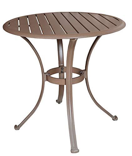 - Panama Jack Outdoor PJO-1001-ESP-BT Island Breeze 30-Inch Slatted Aluminum Bistro Dining Table, 29