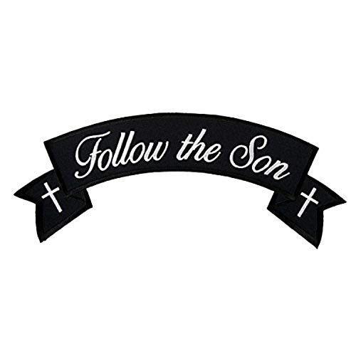 (Hot Leathers, FOLLOW THE SON CHRISTIAN BIKER BANNER ROCKER, Iron-On / Saw-On Rayon PATCH - 4