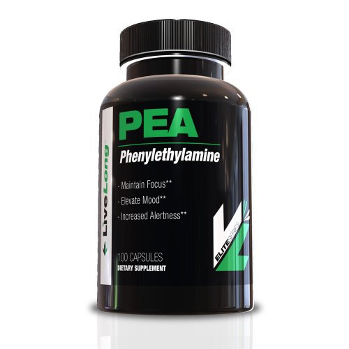 PEA (Phenylethylamine) 100 Capsules. CNS Stimulant! Great for energy and pre-workout, a powerful neurotransmitter, Appetite Suppressant and an awesome Nootropic supplement