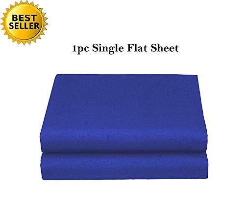 (Elegant Comfort Luxury Ultra Soft Single Flat Sheet Special Treatment Construction Queen, Royal Blue)