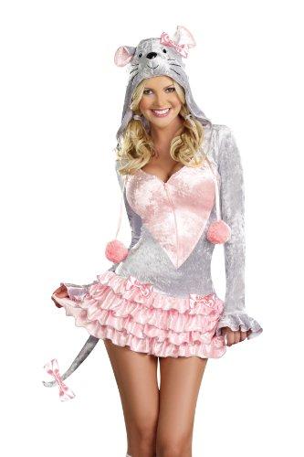 Dreamgirl Cutie Patooty, Gray, Medium