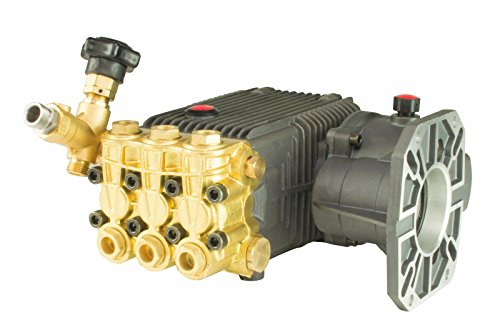 "Erie Tools 1"" Hollow Shaft Triplex High-Pressure Washer Pump and Gearbox, 6.6 GPM, 5000 PSI by Erie Outdoor Power Equipment"