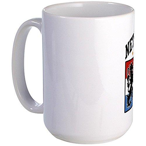 CafePress Netherlands Soccer Large Mug Coffee Mug, Large 15 oz. White Coffee Cup