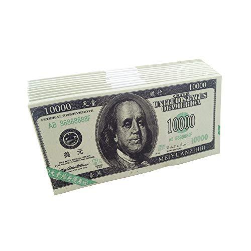 ZeeStar 240 Pcs Chinese Joss Paper - Ancestor Money Joss Paper Heaven Bank Notes Ghost Money - U.S. Dollar($10,000 USD)