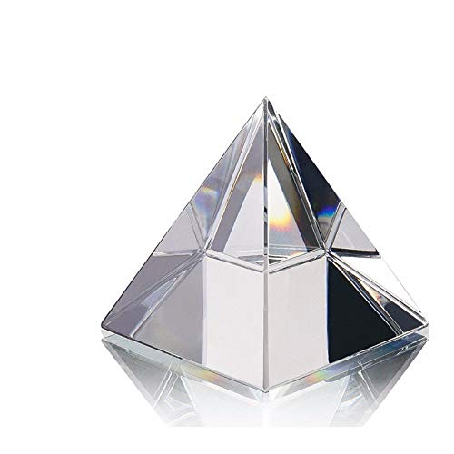 Rare Quartz Crystal Antique Glass Egyptian Crafts Pyramid Clipboard Sparkle Crystals Egypt Figurines Crafts (Size : 100mm)