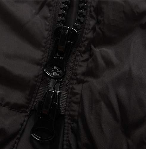 TTYLLMAO Hoodie Black Men's Thicken Warm Cotton Coat Parka Padded Outerwear ArqAwpBUc