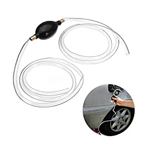 Siphon Hand Pump,Womdee Hand Pump for Car Fuel,High Flow Gas Oil Water Fuel Transfer Siphon Pump for Gas Gasoline Petrol Diesel Oil Liquid Water Fish Tank with 2M Syphon Hose,Portable Hand Fuel Pump