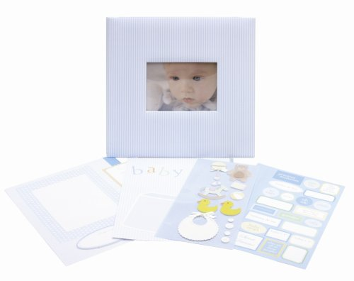 (CR. Gibson Baby Boy Complete Scrapbook Kit from Tapestry)