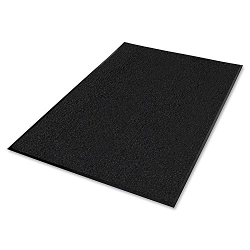 Genuine Joe Indoor Nylon Mat, Rubber Back, 4 by 6-Feet, Black (Genuine Joe Four)