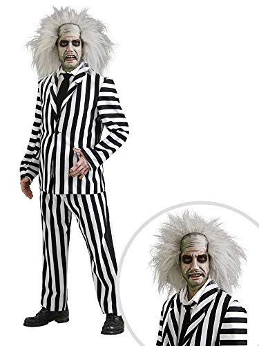 Beetlejuice Costume Kit Adult Standard with Wig ()