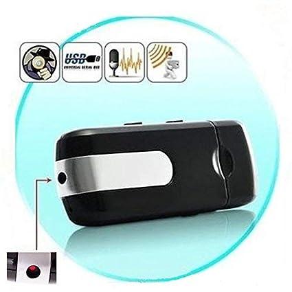 U-Disk Kamera,FLYLINKTECH Spion Versteckte USB Mini DV DVR U8 Disk Kamera Bewegung aktiviert Erkennung