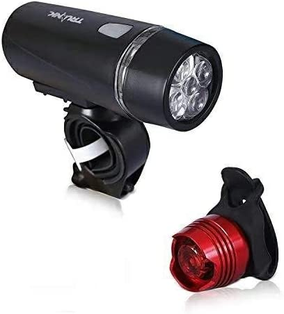 3 LED Taillight Quick-Release Bicycle Light Set Super Bright 5 LED Headlight