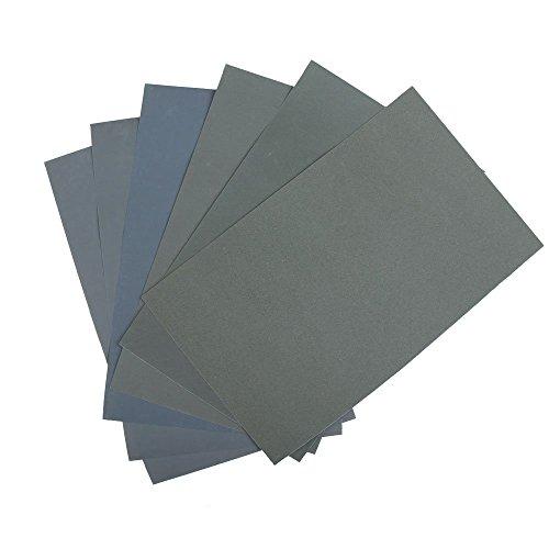 10 Blatt Schleifpapier Sortiment 210 x 110 mm P5000 P3000 P2000 P1000 P800 Nass und Trocken Sandpapier