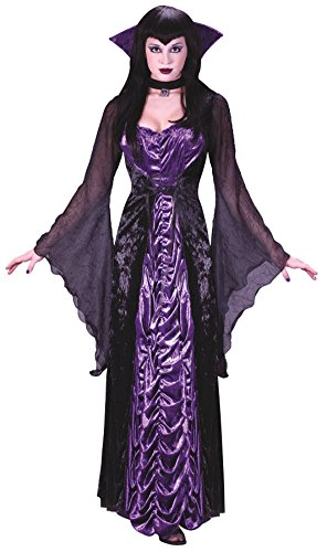 Darkness Of Adult Women Countess Costumes (Funworld Womens Vampire Countess Of Darkness Halloween Fancy Costume, Small/Medium)