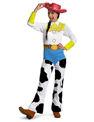 Disguise Women's Disney Pixar Toy Story and Beyond Jessie Costume, White/Black/Blue/Yellow, Large ()