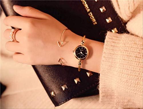 Montre pour Femme, Petit Bracelet en Or, Montres en Acier Inoxydable, Dames Rétro, Montres-Bracelets À Quartz, Mode Décontractée, Femmes, Robe Montre Femme Or Noir
