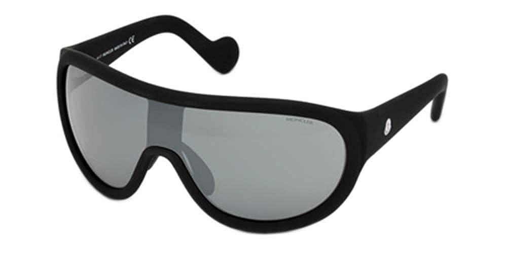 smoke mirror Sunglasses Moncler ML 0047 Hidden Peak 02C matte black