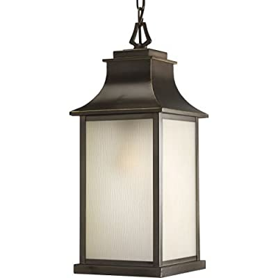 Progress Lighting P5554 Salute Single-Light Outdoor Hanging Lantern with Etched,