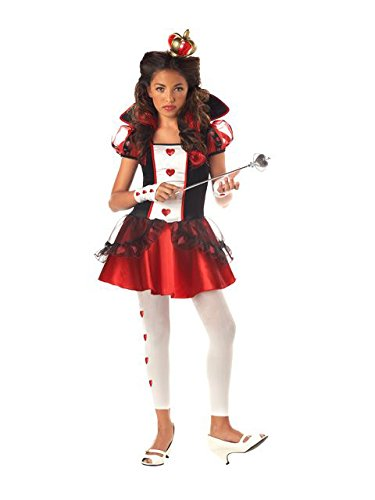 California Costumes Tween Queen Of Hearts Costume,Red/Black/White
