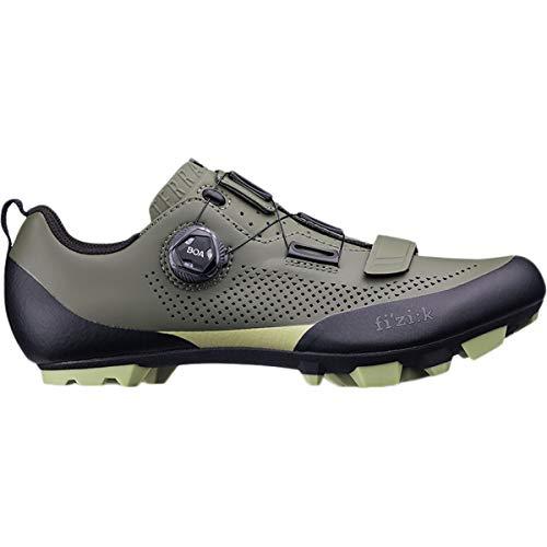 Fizik X5 Terra Cycling Shoe - Men's Military Green/Tangy Green, 47.0