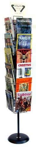 - 24 Pocket Wire Magazine Literature Floor Spinner Merchandise Display 24-8511F125 (Black)