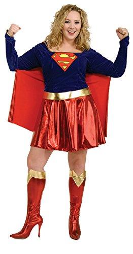 [Supergirl Adult Plus Size Super Hero Costume - Super Girl] (Supergirl Costumes Plus Size)