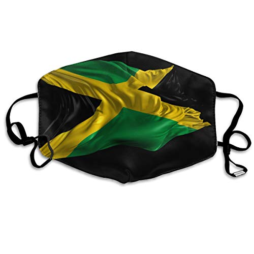 (Unisex Fashion Mask Flag of Jamaica Dust Allergy Influenza Mask Ski Bike Half)