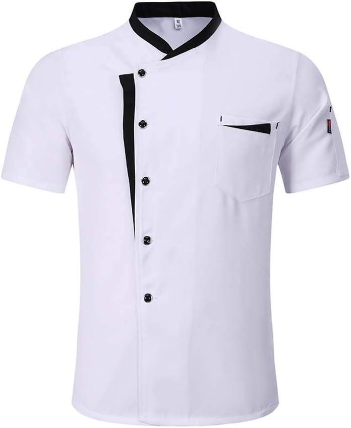 Heart/&M Uniforme Chef di Alta qualit/à Unisex a Maniche Corte Giacca Grembiule Cappello di Estate Ristorante Hotel Parrucchieri Salon Lavoro