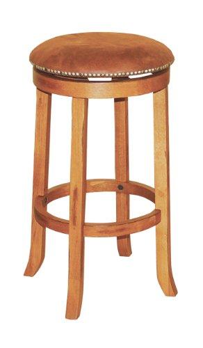 Sedona Swivel Stool, Rustic Oak Finish ()