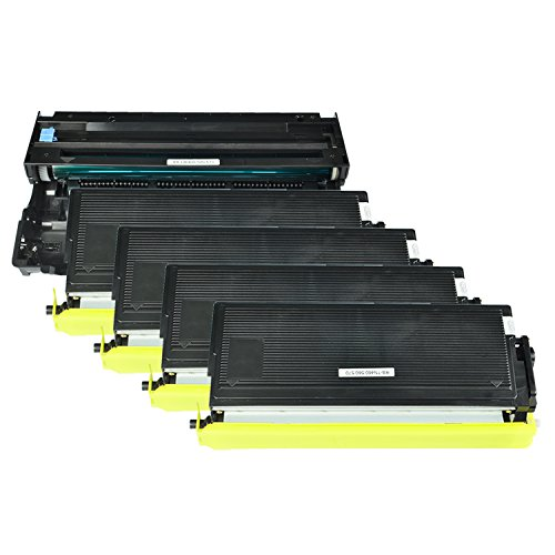 GREENCYCLE 5 Pack Compatible TN570 Toner Cartridge and DR510 Drum Unit Replacement High Yield Use with Brother DCP-8040 DCP-8045D HL-5140 HL-5150DLT MFC-8220 MFC-8840DN Printer(4 Toner, 1 Drum)