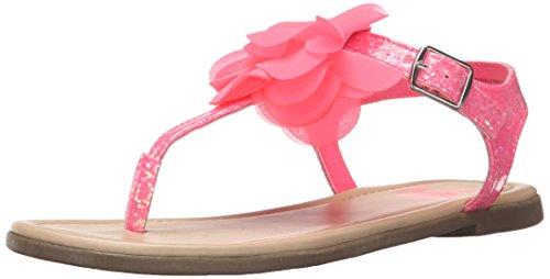 The Children's Place Girls' Flower Zahara Ballet Flat, Pink, 5 M US Big Kid