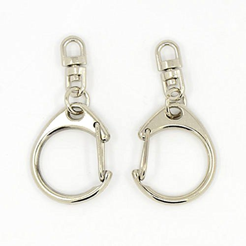 Platinum Silver Double Swivel Lanyard product image