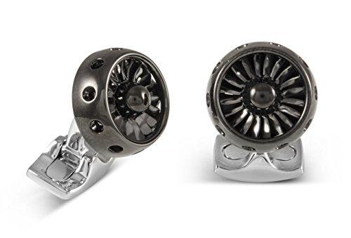 Deakin-and-Francis-Fundamentals-Polished-Black-Rhodium-Mechanicals-Jet-Turbine-Engine-Cufflinks