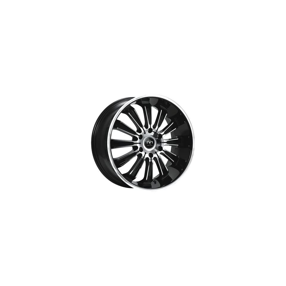 Motiv Maximus 22x9.5 Chrome Black Wheel / Rim 6x5.5 with a 35mm Offset and a 108.00 Hub Bore. Partnumber 405CB 2298435