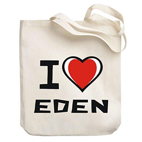 Eden Tote Bags - Teeburon I love Eden Canvas Tote Bag