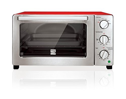Kenmore 4606 6-Slice Convection Toaster Oven in Red