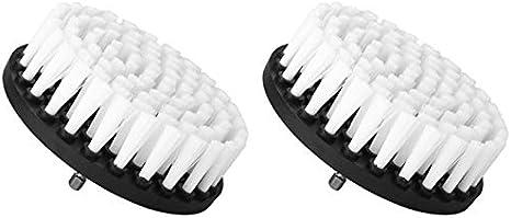 Kaxofang Accesorio de Cepillo de Taladro Suave de PláStico para Limpiar Alfombras de Cuero y TapiceríA Sofá Muebles de Madera
