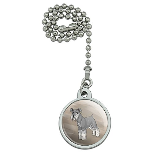 (GRAPHICS & MORE Miniature Schnauzer Dog Ceiling Fan and Light Pull Chain)