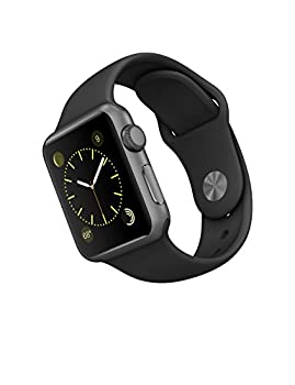 Apple Watch Series 1 38mm Space Gray Aluminum With Black Sport Band 1
