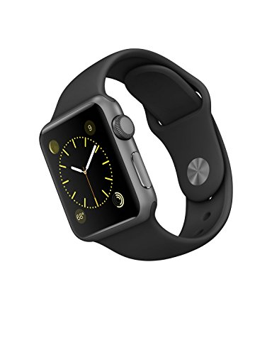 New Apple Series 1 Watch For IPhone Space Gray Aluminum Case With Black Sport Band