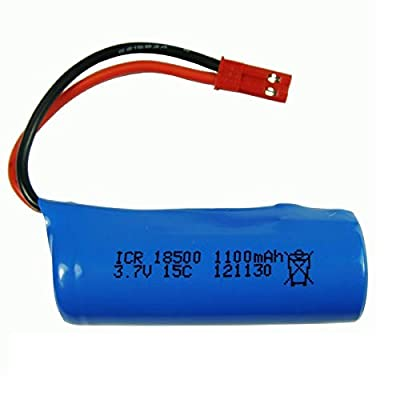 Accessories 3.7V 1100mAh 15c Lipo Battery for S900 FT008 Remote Control Helicopter/Boat 3.7 v 18500 Li-po Batteries for Toy Battery SM Plug - (Color: White): Toys & Games