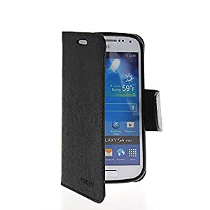 MOONCASE Flip Leather Wallet Card Shell Pouch Stand Case Cover For Samsung Galaxy S4 Mini I9190 Black