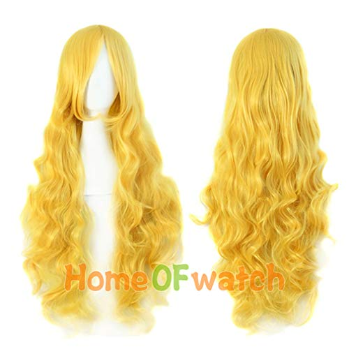 """Loose Wave 32"""" Cosplay Wig Black Pink Blonde red Blue Womens Party Synthetic Heat Resistant Hair"""