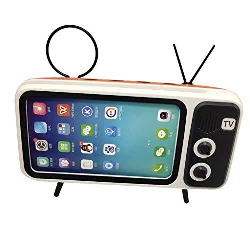 Sonmer Retro Portable Wireless Bluetooth V4.2/EDR Mobile Phone Bracket Speaker, for 5.0-6.5inch Phone (Orange)