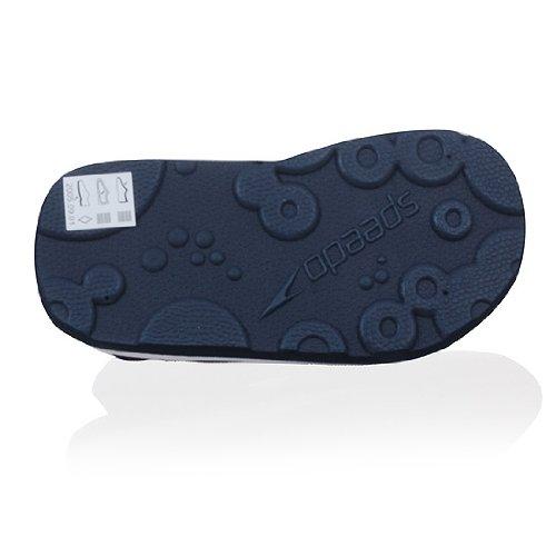 Speedo Zeus Velcro Sandalias Zapatos Foam Zapatos Bare Bebé Azul Marino