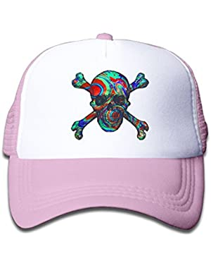 Skull With Crossed Baby Boys Adjustable Trucker Visor Hat