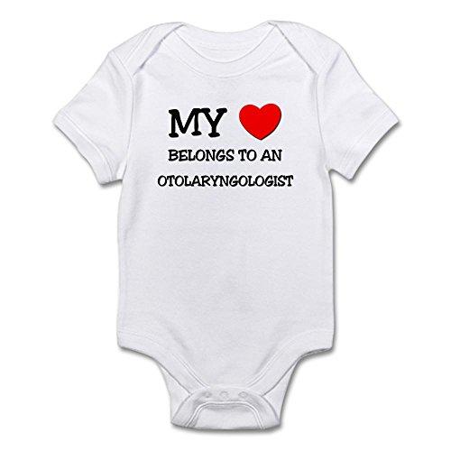 CafePress - My Heart Belongs To An OTOLARYNGOLOGIST Infant Bod - Cute Infant Bodysuit Baby Romper