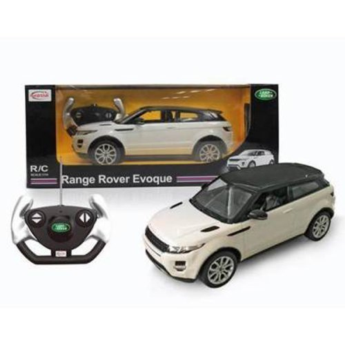RASTAR Authorized 1:14 Land Rover Range Rover Evoque RC Toy Car with LED Lights (White) + Free Shipping Worldwide (Range Rover Evoque Toy)